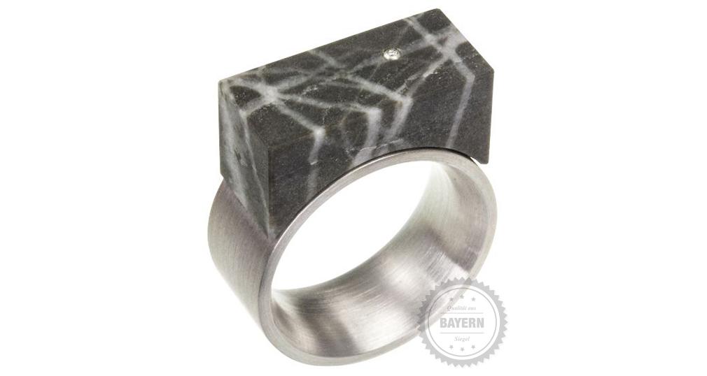 Silber, Marmor, Brillant