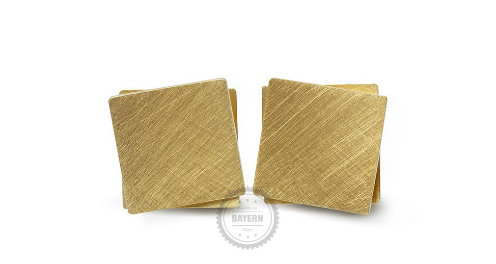 Ohrschmuck 900er Gelbgold, 935er Silber