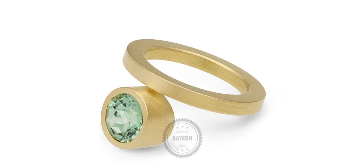Ring 750er Gelbgold, Turmaliin
